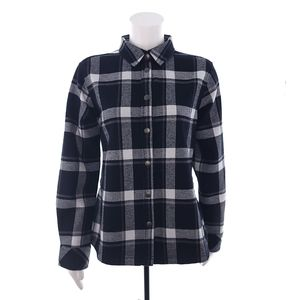 Orvis Plaid Snap Long Sleeve Flannel Shirt Jacket
